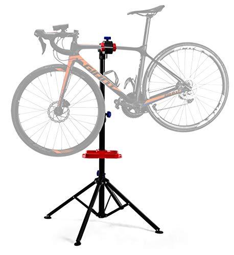ROCKBROS Caballete para Bicicleta Soporte de Reparación Plegable Rotación 360° Altura 108 - 174CM...