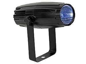 HQ Power VDLLMS1 Mini Projecteur LED Pin Spot - 3W - Lentilles Couleur Substituables