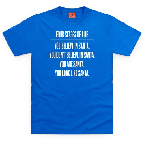 Four Stages of Life T-Shirt, Herren Royalblau