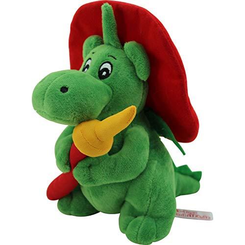 Sweety Toys 11025 Drache XL GRISU 20 cm mit Feuerwehrschlauch Feuerwehr Maskottchen Plüsch ca. 20 cm - Xl Drache