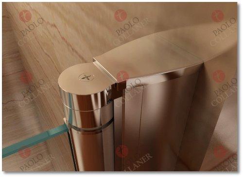 85cm – Verstellbereich von 84-88cm, Duschabtrennung, Duschtür aus 6mm Sicherheitsglas mit Nanobeschichtung - 6