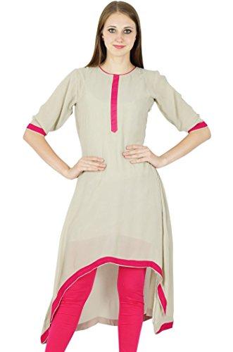 Indische Bollywood Kurta Frauen Ethnischen Georgette Kurti Lässig Top Tunika-Kleid (Kurta Georgette)