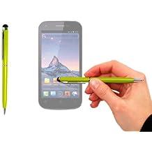 Stylet + stylo bille vert pomme 2 en 1 haute précision pour écran tactile de Smartphone Wiko Darkmoon, Darknight et Darkfull