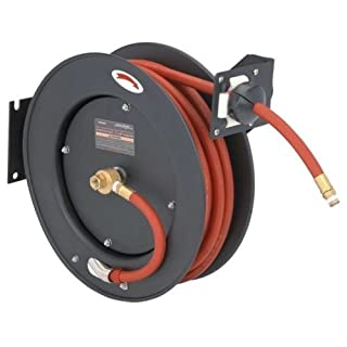 New Auto Rewind Retractable 3/8 x 50' Air Compressor Hose and Reel 300 PSI by Brand New