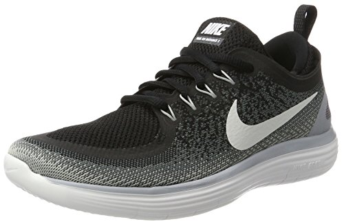 Nike Women's Free Rn Distance 2 Running, Scarpe Sportive Indoor Donna, Nero (Black/white Cool Grey Dark Grey), 37.5 EU