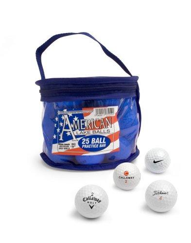 Second Chance 25 balles de golf de récupération Sac PVC