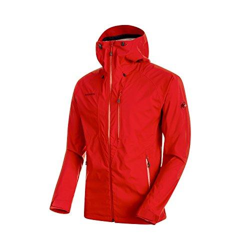Mammut Herren Hardshell-Jacke Kento mit Kapuze, rot (magma), L (Snowboard Jacke Große)