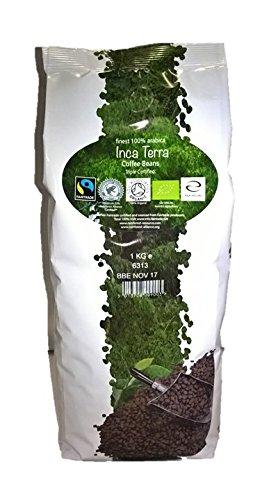 Nairobi Inca Terra Coffee Beans 100% Arabica, Organic, Fair Trade / Café en Granos Orgánico, Comercio Justo (1kg)