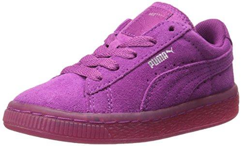 PUMA Suede Classic Iced Kids Sneaker (Infant/Toddler/Little Kid) , Vivid Viola/Puma Silver, 12.5 M US Little Kid
