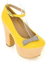 HooH Femmes Velours D'Orsay Stiletto Boucle Mariage Sandales-Rouge-37 vlfUjY5RG