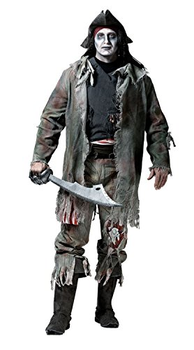 Zombie Pirat Halloween Kostüm 8-teilig (Large) -