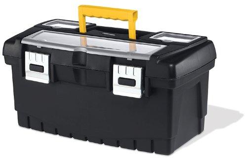 Keter 17331482 Werkzeugbox Pro Serie Tool Box 19 Zoll metal latch, Kunststoff, Metallverschlüsse, schwarz/gelb - 19-tool-box