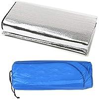 Fantasyworld Double Sided Foldable Waterproof Aluminum Foil Mat Outdoor Travel Beach Mat Sleeping Mattress for Camping Hiking