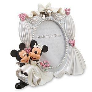 Disney Park Mickey Minnie Maus Bräutigam 4x 6Hochzeit Foto Rahmen Neu (Mickey-mouse-hochzeit)