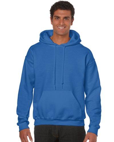 Gildan Heavy Blend Adult Hood, Felpa Uomo Blue (Royal )