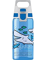 Sigg Viva One Sharkies, Kinder Trinkflasche, 0.5 L, Polypropylen, Bpa Frei Kinderflasche, Blau, 0.5 Liter