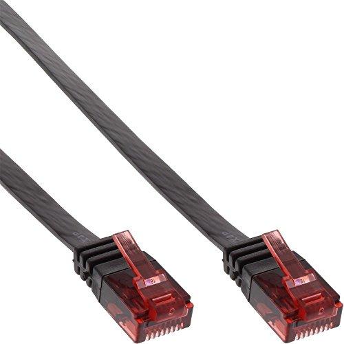 InLine Patchkabel flach, UTP, Cat.6, 7m schwarz