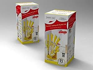 messer set gelb 8 tlg royalty line rl kss904 c k che haushalt. Black Bedroom Furniture Sets. Home Design Ideas