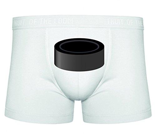 Druckerlebnis24 Boxershort Puck- Eishockey- Sport S- XXL Sexy Unterhose Slip Shorts