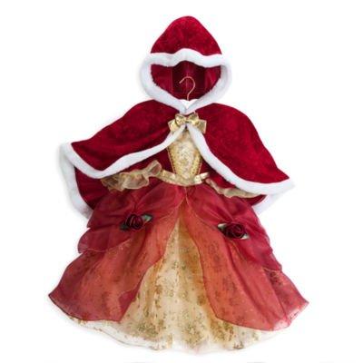 Authentic Disney Store, Schönheit und die Beast's Princess Belle Kinder Kostüm mit Umhang - Größe 9/10 des (Sebastian Kostüme Disney)