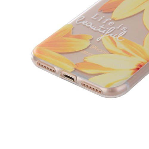 iPhone Case Cover Pour iPhone 7 Cat Peach Blossom motif Transparent TPU Soft Protective Back Cover Case ( SKU : Ip7g0061f ) Ip7g0061e