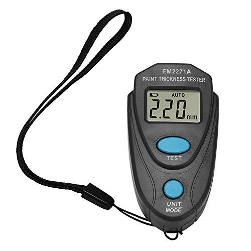 Schichtdickenmessgerät Professionell Mini Digital Beschichtung Meter Gauge Gauge LCD Display Farbe Messen Tester Werkzeug(Ohne Batterie enthalten)