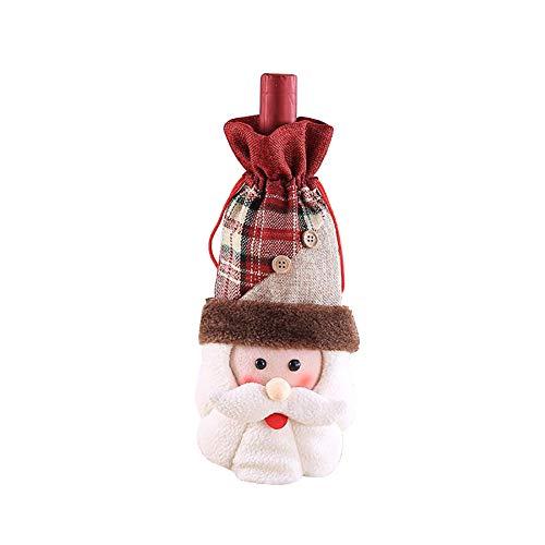 Gysad Weinflaschenhülle für Weihnachten, hässliche Pullover, Weinparty-Dekoration 16×32cm weihnachtsmann (Hässlich Weihnachten Pullover Dekorationen)