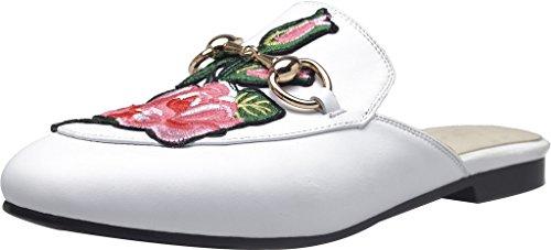 Calzado Calaier Mujer Caleast 2cm Block Slip En Zuecos Y Calzado Blanco Sabot