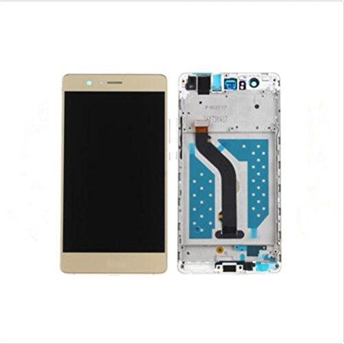 for huawei Huawei P9 Lite Display im Komplettset LCD Ersatz Für Touchscreen Glas Reparatur (Gold + Rahmen)