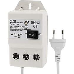 Amplificateur d'antenne numérique pour 2appareils, amplification UHF 20dB et VHF 36 dB, 0-900MHz,convient pour télévision par câble, TNT, Sky