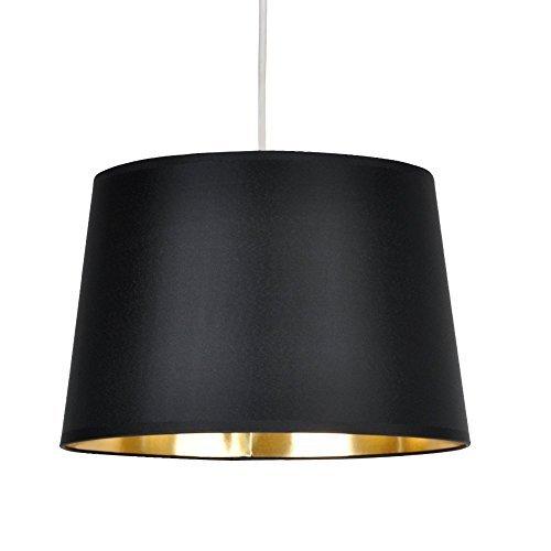 Gold lamp shades amazon minisun modern black metallic gold tapered ceiling pendant light shade aloadofball Gallery