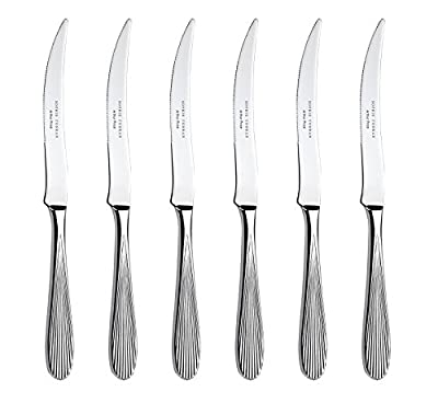 Sophie Conran for Arthur Price Dune Set of 6 Steak Knives, Stainless Steel