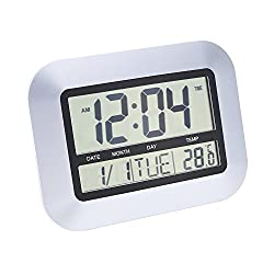 Magideal Multi-function Electronic Temperature Meter Calendar Digital Alarm Clock