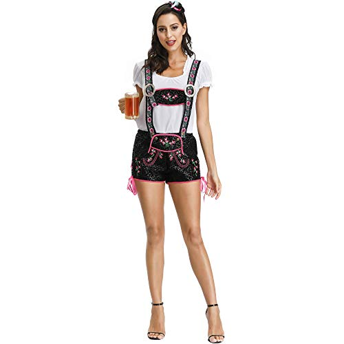 Wench Bar Kostüm - Story of life Halloween Oktoberfest Maid Performance Kostüme Europa Und Amerika Damen Bar Kellner Spiel Uniform Set,Black,M