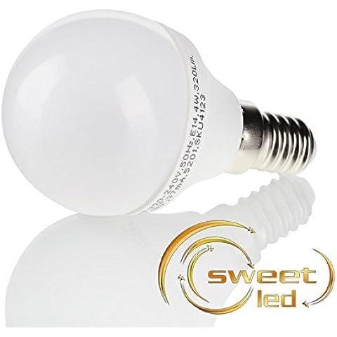 Sweet-LED E14, led, Mini bombilla G45 luz blanca cálida SMD