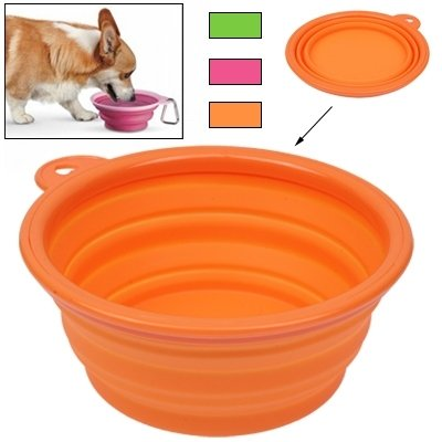 YAJIE-Haustier, Tragbare Stretchable Silicon Food Feeder Dish Serving Bowl Wasser Container für Katze Hund Haustier