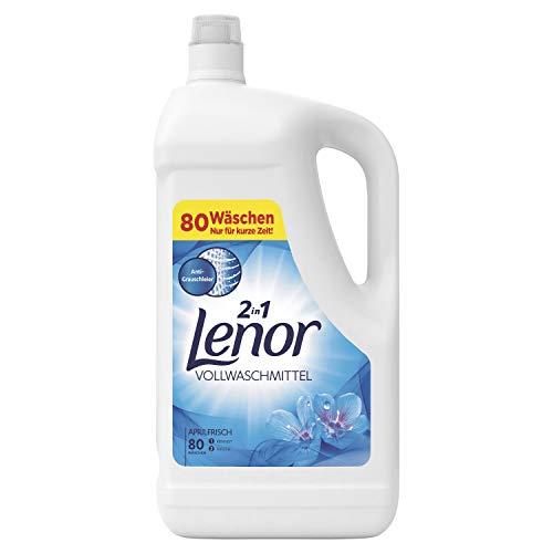 Lenor Vollwaschmittel Flüssig Aprilfrisch, für Reinheit und Frische, 80 Waschladungen, 4,4 L