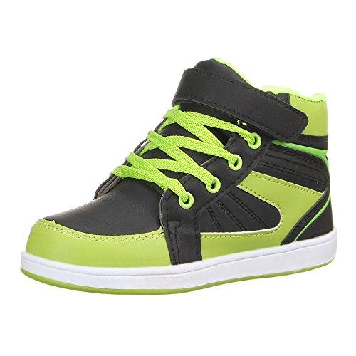 Chaussures, b-4 école Vert - Grün Schwarz