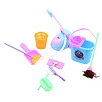 Kids Cleaning Set of Real Working Tools House Pretend Play Toddler Toys