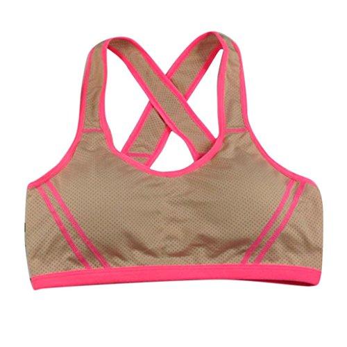 LONUPAZZ soutien-gorge de sport femme yoga Bra Top étendue Seamless racerback Padded Sports Bra Kaki