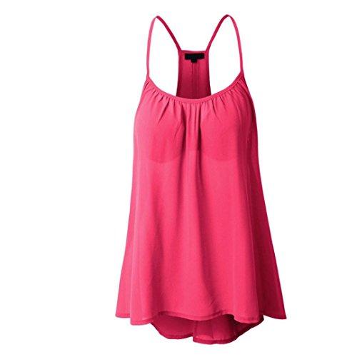 MRULIC Damen Viele Größen Verfügbar Regelmäßige Sommerweste Shirt Tops Optionale Farbe(Rosa,EU-34/CN-S) (S/s Mesh-polo-shirt)