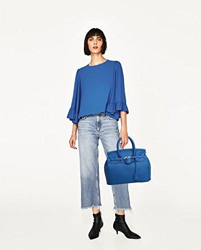 Sunas 2017 nuovo Femminile Borsa a mano Stile Casual Retro blocco rotazione Borsa messenger Moda Portafoglio deep Blue
