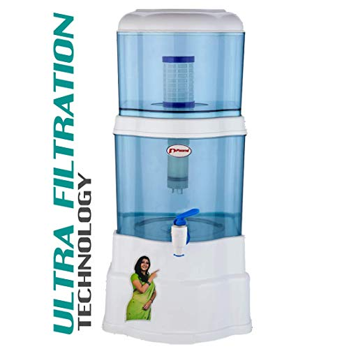 P-ZONE Aquagem 18-litres Gravity Based Water Purifier Filter with Ultra Filtration Technology (Non-Electric)