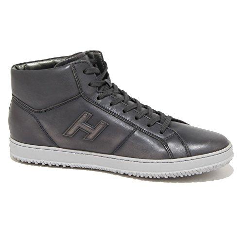 90225 Baskets Hogan H 168 Mid Cut H Relief Chaussures Hommes Chaussures Hommes Gris