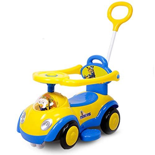 Veicoli a spinta e ruote Twist Car per Bambini 1-3 Baby Yo Car Scooter con Carrello Musicale Mute Wheel Walker con La Prima Educazione Story Machine Function Regalo di Compleanno per Bambini
