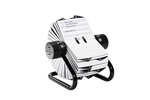 Durable 248201 TelIndex Rollkartei (für 500 Telefon- und Adresseinträge, inklusiv 25-teiligem Register A-Z) schwarz