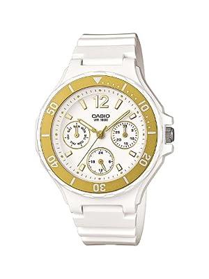 Casio LRW-250H-9A1VEF - Reloj analógico de cuarzo para mujer con correa de resina, color blanco