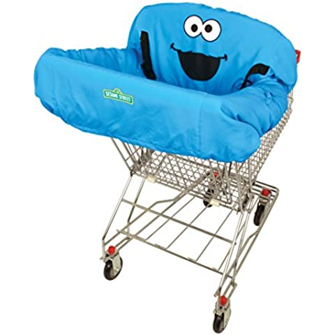 ABC Fun Pads Cookie Monster Shopping Cart Cover, Blue by ABC Fun Pads, Inc.