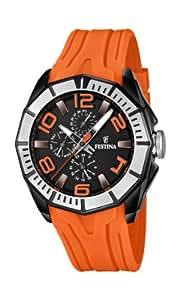 Festina Herren-Armbanduhr XL Multifunktion Analog Quarz Kautschuk F16670/6