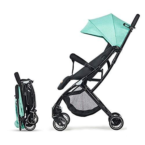Kindgre El Cochecito De Bebé Ligero Y Plegable Puede Sentarse Para Recostar El Carrito De La Sombrilla Del Bebé (Green)